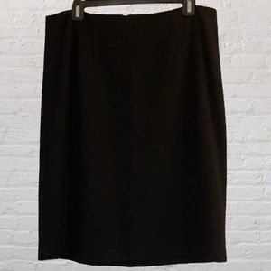 Talbots Black Ponte Skirt